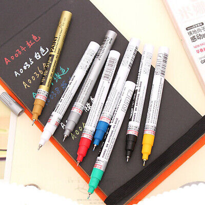 Marker Pen Highlighter Waterproof Thin  Permanent Oil Paint Tread Rubber Metal