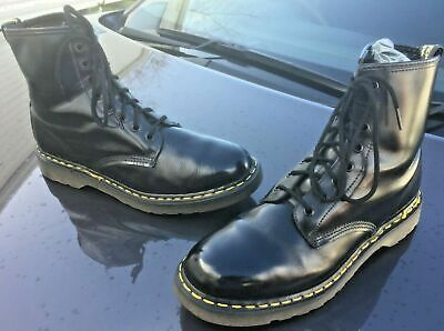 Dr Martens 1460 black quilon leather boots UK 10 EU 45 Made in England