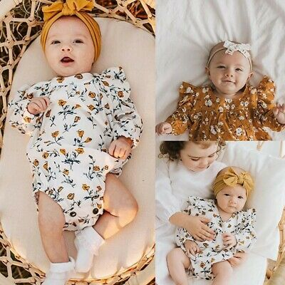 Baby Boy Girl Newborn Infant Toddler First Clothe Romper Pant Outfit Jumpsuit UK