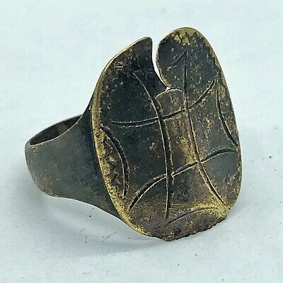 Ancient Or Medieval Brass Ring European Crusaders Viking Artifact Antique BROKEN