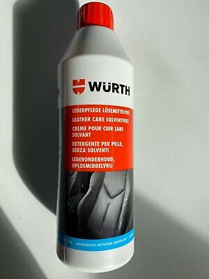 ***1 x 500ml WURTH SOLVENT FREE LEATHER CARE AGENT**