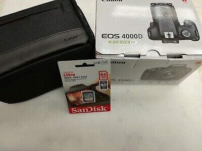 CANON EOS 4000D DSLR Camera with travelling bag & 64 gb memory card