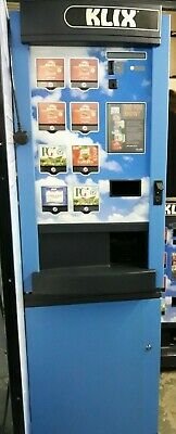 Klix 450 8 Selections In-Cup Coffee Vending Machine with Base Cabinet - Working