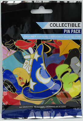 NEW Disney Parks Character Hats Mystery 5 Pin Pack UNOPENED 89365