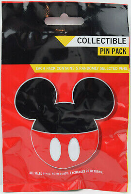 NEW Disney Parks Mickey Mouse Icon Mystery 5 Pin Pack UNOPENED 86540
