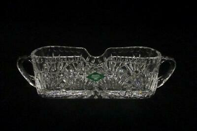 Shannon Crystal Designs of Ireland 24% Lead Crystal Flatware Caddy w/ Box