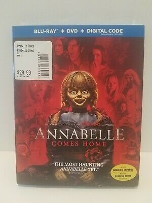 ANNABELLE COMES HOME(Blu-Ray + DVD + Digital, 2019) 2-DISC SET with SLIPCOVER