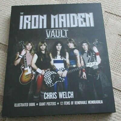 Iron Maiden Vault - Chris Welch , illustrated book,posters,memrabilia