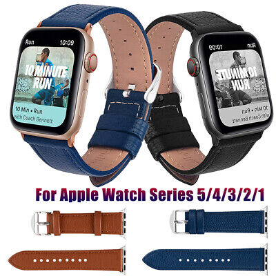 Genuine Leather Band For Apple Watch Series 5/4/3/2/1 iWatch 38/40/42/44mm Strap