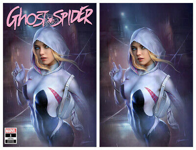 GHOST SPIDER #1 Shannon Maer Virgin Variant Set 1st Print New NM LTD 1000 RARE