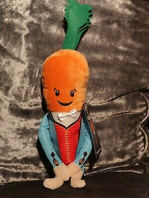 "Aldi Official Kevin the Carrot 2019 Soft Toy 13"" leafy blinders"