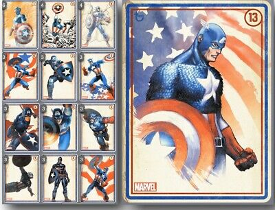 Topps Marvel Collect BLUE ROLL CALL Complete 12-Card Set + AWARD
