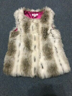 Girls Gilet Faux Fur  Butterfly By Matthew Williamson @ Debenhams Age 7