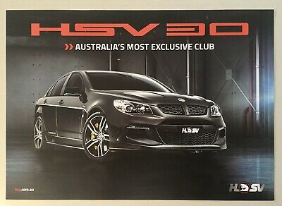 HSV 30th Anniversary Clubsport Dealer Poster