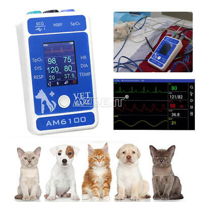 Portable Veterinary VET Patient Monitor Animal Body Healthy Check NIBP SpO2 ECG