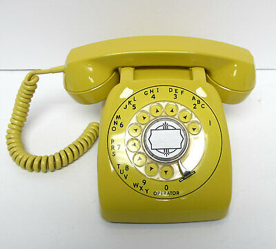 Yellow Automatic Electric 80 Desk Telephone - Full Restoration