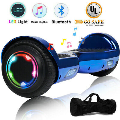 "6.5"" Hoverboard Bluetooth Electric Self Balance Scooter with Bag Novel Gift Blue"