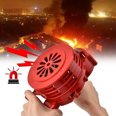 Portable Handheld Loud Hand Crank Operated Air Raid Alarm Siren Plastic Shell