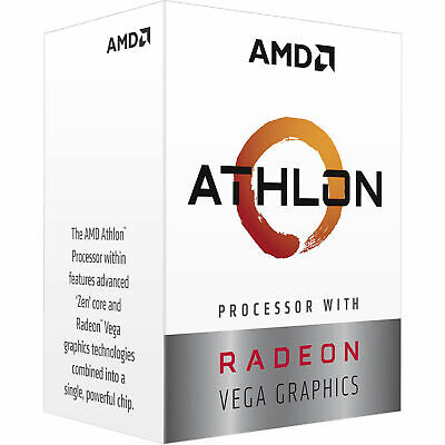 AMD Athlon 3000G Processor 4MB 3.5GHz AM4 2 Core 4 threads CPU Vega Graphics NEW