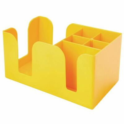 Yellow Bar Caddy for Cocktail Napkin Straws Holder Pub Bar Equipment Tidy Retro