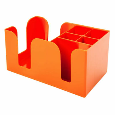 Orange Bar Caddy for Cocktail Napkin Straws Holder Pub Bar Equipment Tidy Retro