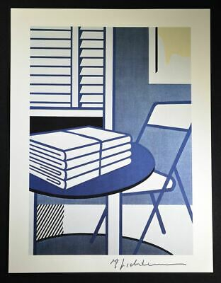 """Roy Lichtenstein, Hand Signed Print """"Still Life with Folded Sheets"""", with COA."""