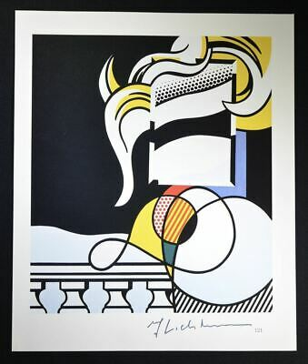 """Roy Lichtenstein, Beautiful Hand Signed Print titled """"Portrait"""", with COA."""