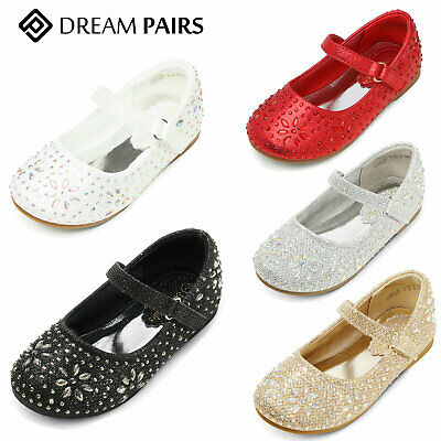 DREAM PAIRS Kids Girls Toddlers Flat Shoes Mary Jane Shoes Party Wedding Shoes