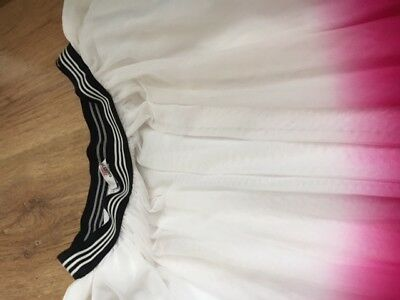 girls age 14A JUNIOR GAULTIER WHITE/PINK NET SKIRT GOOD CONDITION 100% AUTHENTIC