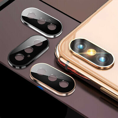 For iPhone XR XS Max Accessory Camera Lens Screen Tempered Glass Protector Ring