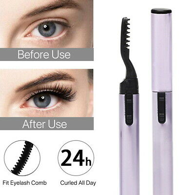 Electric Heated Lasting Eye Lashes Curve Curling Comb Heat Eyelash Curler Makeup