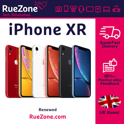Apple iPhone XR Unlocked 64gb/128gb/256gb Black/Red/Yellow/Blue/Coral/White