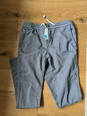 Mini Boden Boys Age 12 152cm Grey Trousers Jeans New With Tags