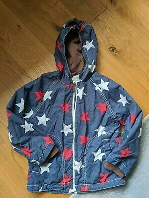 Mini Boden Boys Girls Age 5-6 Blue Star Coat Jacket Winter