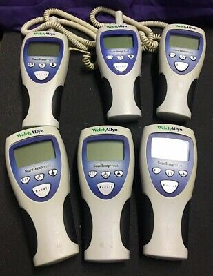 Lot of (6) WELCH ALLYN 692 Digital Thermometers