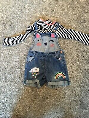 Girls Dungarees And Top Set Age 4-5