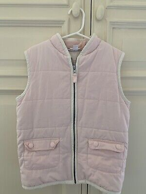 Little White Company Pink Girls Gilet 5-6yrs