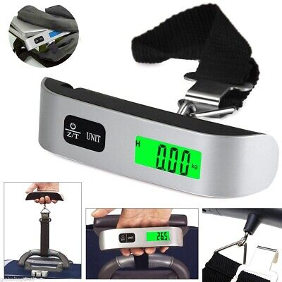 50kg/10g Portable LCD Digital Hanging Luggage Scale Travel Electronic Weight K