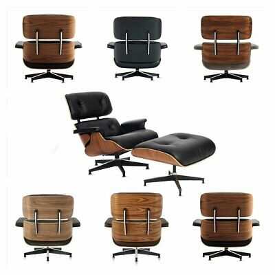 Fits Eames Lounge Chair & Ottoman Reproduction Palisander Walnut 100% Leather