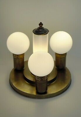 Original Art Deco Ceiling Lights Table Lamp Ceiling Brass 1920