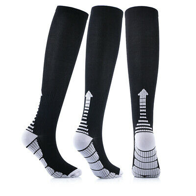 1 Pair Compression Socks Pressure Knee High Sock Running Support Brace Stockings