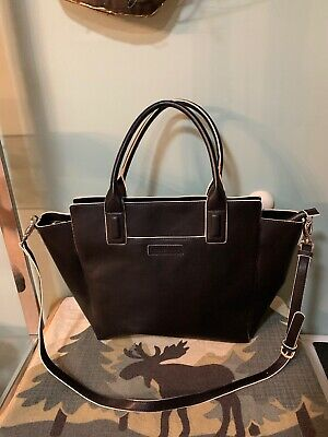 Vera Bradley Large Faux Leather Vegan Travel Convertible Tote with Strap
