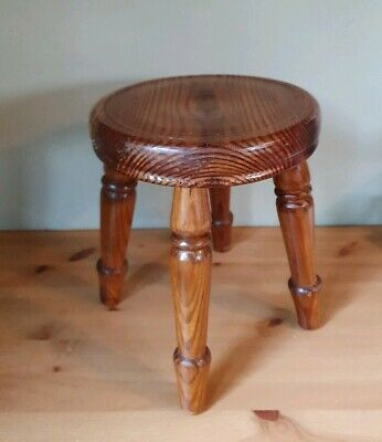 Heavy Handmade and Crafted Solid Wooden Four Legged Stool