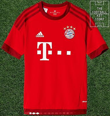Bayern Munich Home Shirt - adidas Boys Football Jersey - 7-8 Years- Black Friday