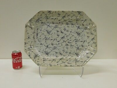 HUGE Antique Flow Mulberry Wedgwood Marble Staffordshire Transferware Platter