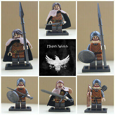 Game Of Thrones Soldiers Nights Watch Infantry 4 X Mini Figures Use With lego