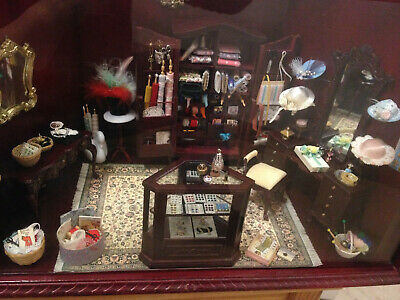 rare fully equipped store haberdashery shop dollhouse size 1:12 Mercerie Laden