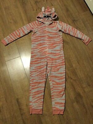 M&S Girls One Piece All In One Zip Up Sleep-suit - Age 11 - 12 Years