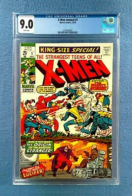 X-Men Annual #1 Cgc 9.0 Very Fine/Near Mint White Pages 1970