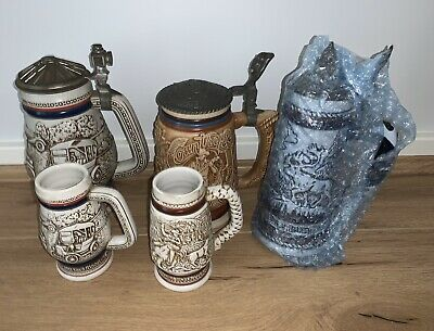 Rare Pair of Large & Small 1979 Avon Beer Stein's - Classic Automobiles Cars